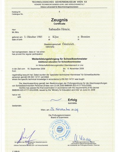 HS-Schweisstechnik Haid - Lohnfertigung - Lohnschweißen - Schweißaufsicht
